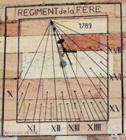 Cadran solaire de la caserne. - Contributeur : G CHP . Contributeur Wikipédia, Commons et Rodovid