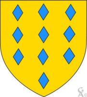 Blason : D'or à dix losanges d'azur ordonnés : 3,3,3,1 - Contributeur : W.Vaudron