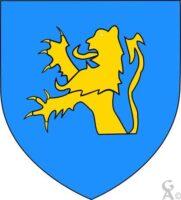 D'azur au lion naissant d'or - Contributeur : W.Vaudron