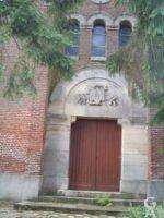 Le temple : tympan - Contributeur : M. Trannois