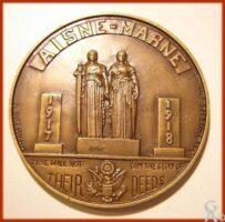 1918 MEDAILLE AISNE MARNE AMERICAN MONUMENT - Contributeur : Copyright © 2009 La Phalère