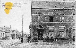 La rue de Montbrehain et le débit de tabac - Contributeur : Mairie de Brancourt le Grand