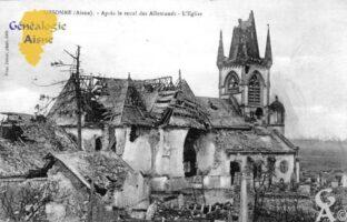 Après le recul des Allemands - L'Eglise - Contributeur : Christiane Brenu