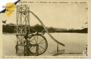 Le tobogan aux pentes vertigineuses - La roue aquatique  - Contributeur : Michel Bonneroy
