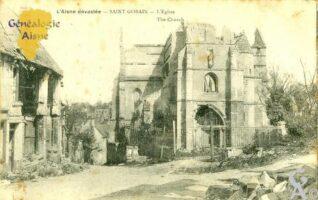 L'église dévastée - Contributeur : Michel Bonneroy