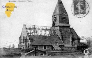 Ruines de l'église. - Contributeur : Chantal Burlot.