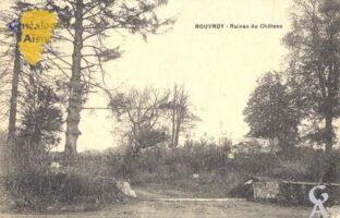 Ruines du château - Contributeur : Carte postale Sébastien Sartori