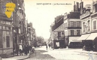 la rue Saint Martin - Contributeur : Carte postale : Sébastien Sartori