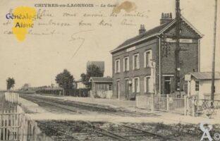 la gare en 1927 - Contributeur : Jean Claude Huvier