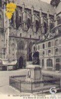 la Bailique et la Statue de Quentin de la Tour.  - Contributeur : Guy Gilkin
