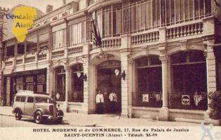 Hôtel moderne et du Commerce, 27 rue du Palais de Justice. - Contributeur : Guy Gilkin