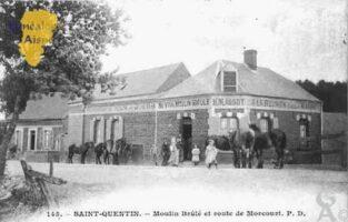 Moulin Brûlé et rue de Morcourt - Contributeur : Guy Gilkin