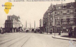 Place du Huit Octobre et rue de La Fère - Contributeur : Guy Gilkin