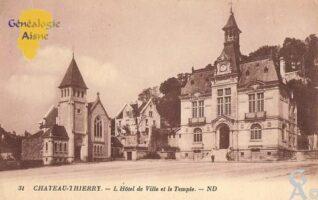 l' Hôtel de Ville et le Temple - Contributeur : Michel Bouyenval