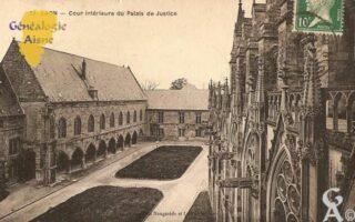 Cour intérieure du Palais de Jusstice. - Contributeur : Michel Bouyenval