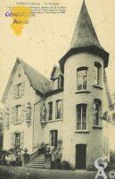 le château. - Contributeur : D. PREVOST beaucoup d'autres cartes de Tavaux et Pontsericourt sur son site personnel (adresse dans les liens de Tavaux).