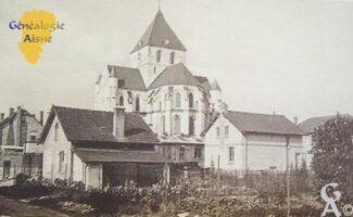Vue de l'église  - Contributeur : Archives Municipales de St Quentin