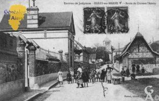 Environs de Jaulgonne - Barzy sur Marne - Route de Château-Thierry. - Contributeur : Guy Gilkin
