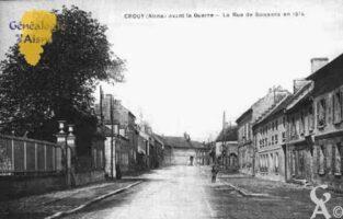 Avant la Guerre - Rue de Soissons en 1914 - Contributeur : Guy Gilkin