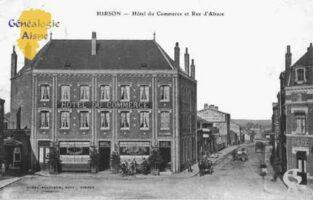 Hôtel du Commerce et rue d'Alsace - Contributeur : Guy Gilkin