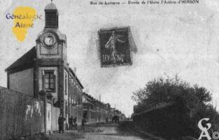 Rue de Lorraine, entrée de l'Usine  l'Aciérie d'Hirsons.  - Contributeur : Guy Gilkin