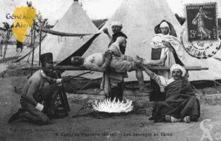 Camp de Sissonne - Les Sauvages au camp. - Contributeur : Guy Gilkin