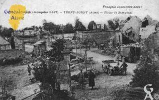 Français souvenons nous ? -  La France reconquise (1917) - Route de Margival . - Contributeur : Guy Gilkin