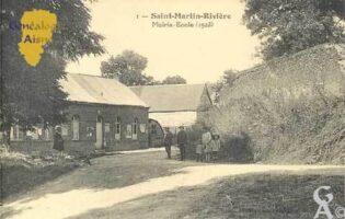Mairie-École en 1923 - Contributeur : Serge Hiet