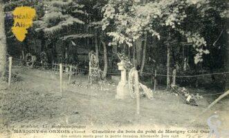 Cimetière du bois du pont de Marigny Coté Ouest des soldats mort pour la patrie invasion Allemande 1918. - Contributeur : François Gérard