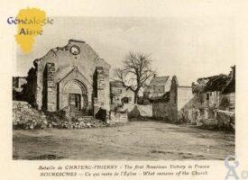 Bataille de Château-Thierry - Ce qui reste de l'église.  - Contributeur : François Gérard