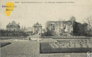 Le château restauré, les jardins - Contributeur : Mme Bouillon