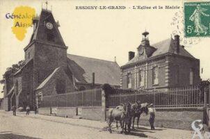 L'église et la mairie - Contributeur : T.Martin