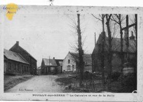 le calvaire et rue de la Halle - Contributeur : F. Rousseau