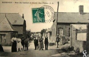 Rue du Caillet et Ecole des filles - Contributeur : T.Martin