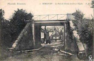 Le pont de chemin de fer et l'église - Contributeur : A.Demolder