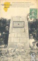 Zone rouge de la ferme de Gilemont : Monument élevé sur le champ de bataille par les soldats de l'Armée américaine à la mémoire de leurs camarade de la 27e division des Etats-Unis (division de New-York), à l'endroit où ils sont tombés du 27 au 30 Septembre 1918 - Contributeur : T.Martin