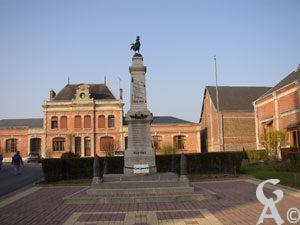 La place de la mairie- Mémoires du Canton