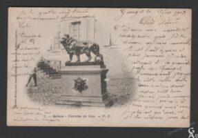 La fontaine du lion-R.Hourdry