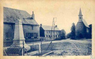 Le monument et l'église -N.Gilbert
