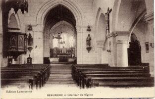 Beaurieux Intérieur de l' Eglise1915 -N.gilbert