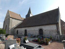 L'église côté Nord - J.P. Brazier