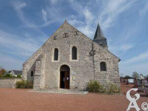 Façade de l'église - J.P. Brazier