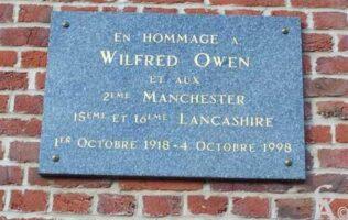 Plaque Commémorative Wilfrid OWEN