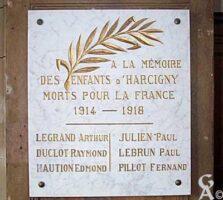 Plaque commémorative de l'église