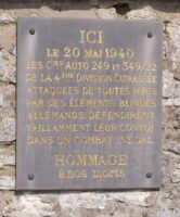 Plaque Commémorative de la 4e division Cuirassée