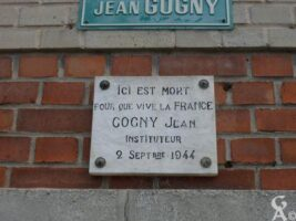 Plaque Commémorative Jean COGNY