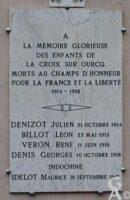 Plaque Commémorative Mairie