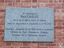 Plaque Commémorative Paul CAILLE