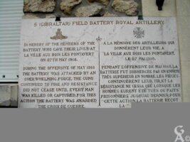 Plaque Commémorative Britannique de la Mairie