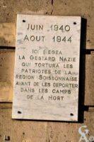 Plaque Commémorative des Déportés